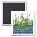 The Frog and Scorpion 2 Inch Square Magnet
