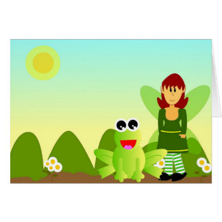 The frog and the fae card