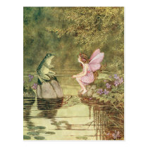 The Frog and the Fairy Postcard