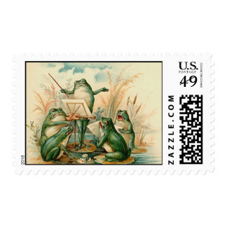 The Frog Band Postage Stamp