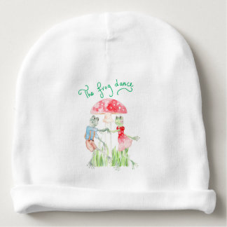 """The frog Dance"" Baby Cotton Beanie"