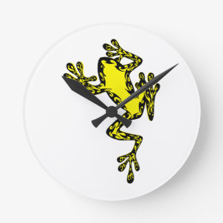 THE FROG MOVES ROUND WALLCLOCKS