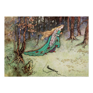 The Frog Prince by Warwick Goble Poster