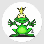 The Frog Prince Classic Round Sticker
