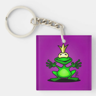The Frog Prince Single-Sided Square Acrylic Keychain