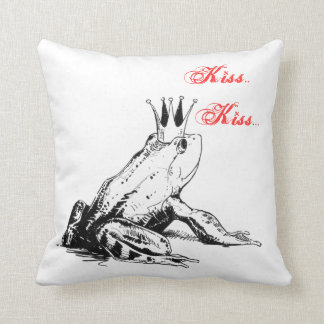 The Frog Prince Pillow ! Give me a Kiss!!