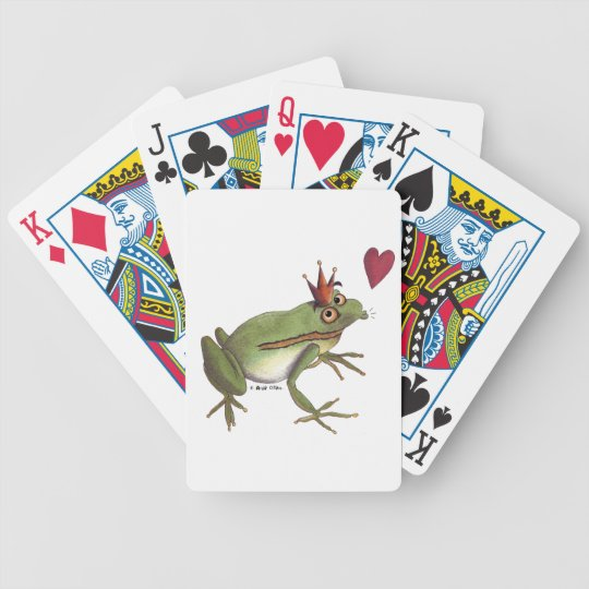 The frog prince playing cards