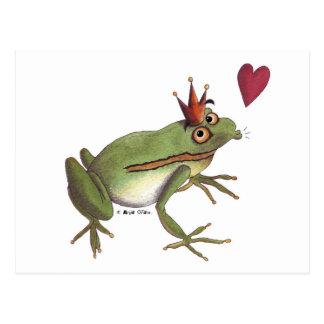 The frog prince postcard