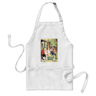 The Frog The Fish & the Queen of Hearts Invitation Adult Apron