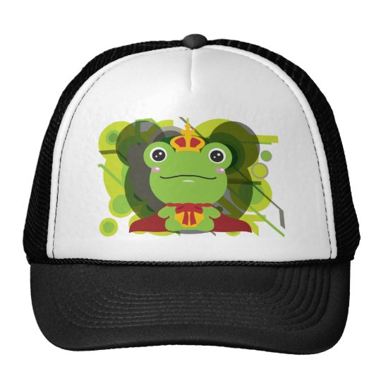 The frog which did not fit a prince trucker hat