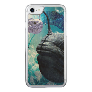 The frogfish with bubbles carved iPhone 8/7 case