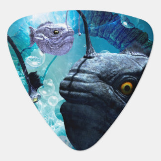 The frogfish with bubbles guitar pick