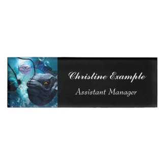 The frogfish with bubbles name tag