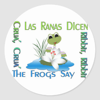 The Frogs Say Ribbit! Classic Round Sticker