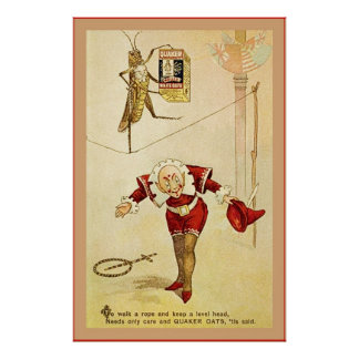 The Frolie Grasshopper Circus ~ Vintage Poster