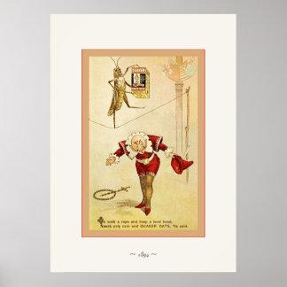 The Frolie Grasshopper Circus ~ Vintage Print