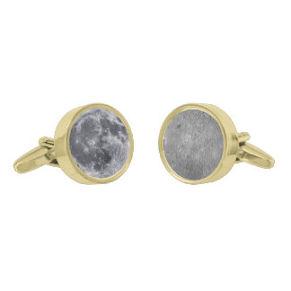 The Front & Farside Of The Moon Gold Cufflinks