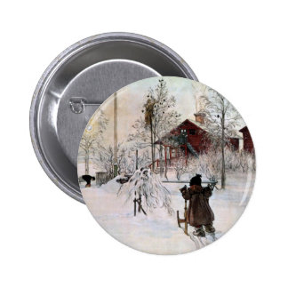 The Front Yard and Wash House in the Snow Pinback Buttons