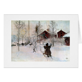 The Front Yard and Wash House in the Snow Card