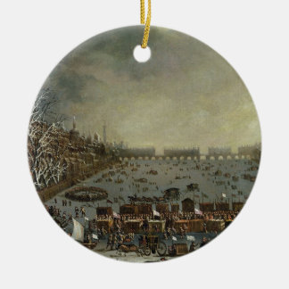 The Frost Fair of the winter of 1683-4 on the Tham Ceramic Ornament