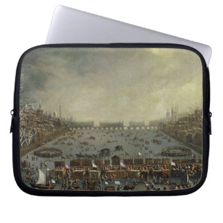 The Frost Fair of the winter of 1683-4 on the Tham Laptop Sleeves