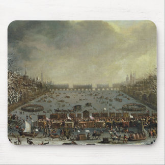 The Frost Fair of the winter of 1683-4 on the Tham Mouse Pad