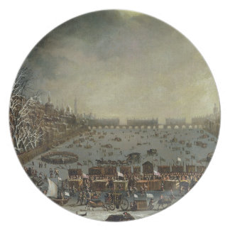 The Frost Fair of the winter of 1683-4 on the Tham Plate