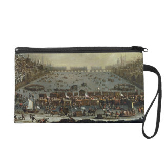 The Frost Fair of the winter of 1683-4 on the Tham Wristlet Purse