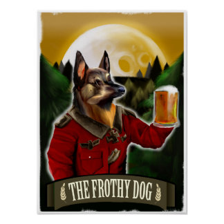 The Frothy Dog Poster
