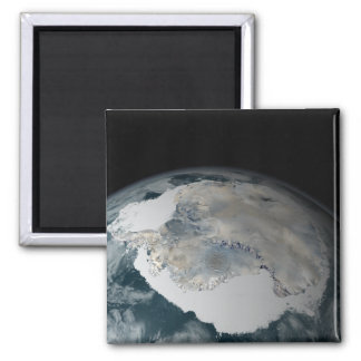 The frozen continent of Antarctica 2 Inch Square Magnet
