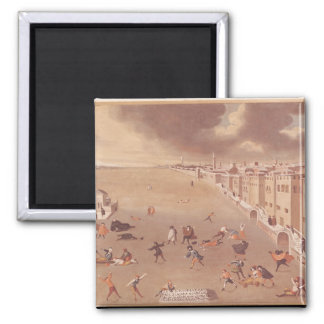 The Frozen Lagoon in 1708 2 Inch Square Magnet