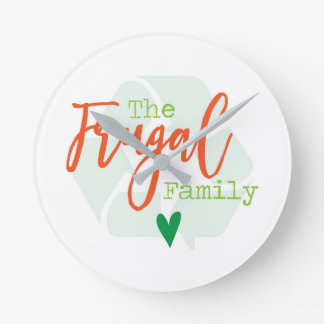 The Frugal Family Wall Clock