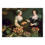 The Fruit and Vegetable Seller Greeting Card