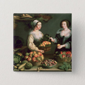The Fruit and Vegetable Seller Pinback Button