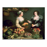 The Fruit and Vegetable Seller Postcard