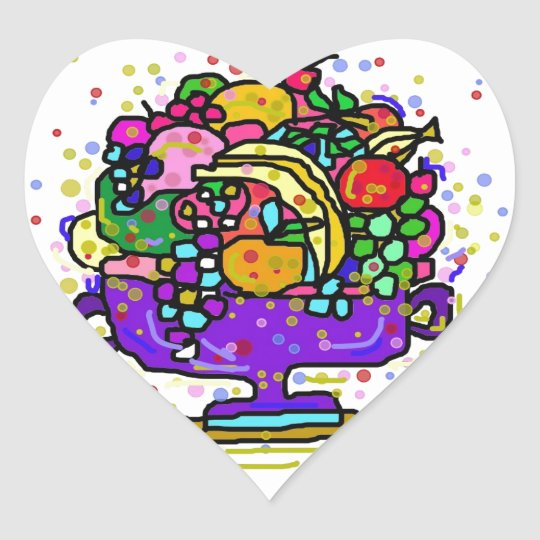 The Fruit Bowl. Heart Sticker