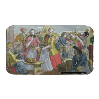 The Fruit Market (coloured engraving) iPhone 3 Case