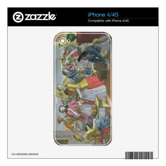 The Fruit Market (coloured engraving) Decal For The iPhone 4S