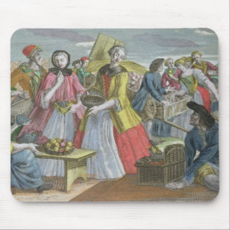 The Fruit Market (coloured engraving) Mouse Pad
