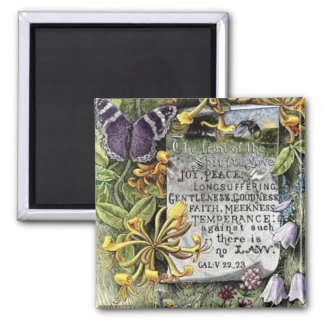 The Fruit Of The Spirit 2 Inch Square Magnet