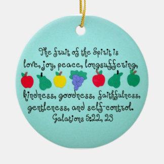 The fruit of the Spirit. Ceramic Ornament