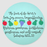 The fruit of the Spirit... Classic Round Sticker