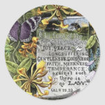 The Fruit Of The Spirit Classic Round Sticker
