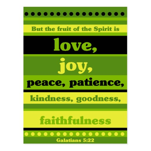 The Fruit of the Spirit is Love Postcard