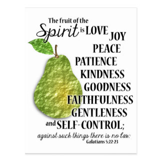 The Fruit of the Spirit - PEAR - Postcard