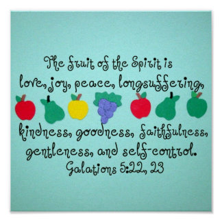 The fruit of the Spirit. Print