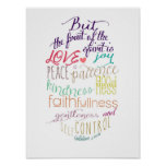 The Fruit Of The Spirit Poster at Zazzle