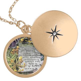 The Fruit Of The Spirit Round Locket Necklace