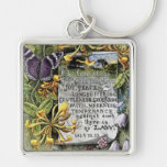The Fruit Of The Spirit Silver-Colored Square Keychain