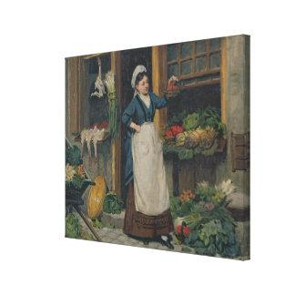 The Fruit Seller Canvas Print